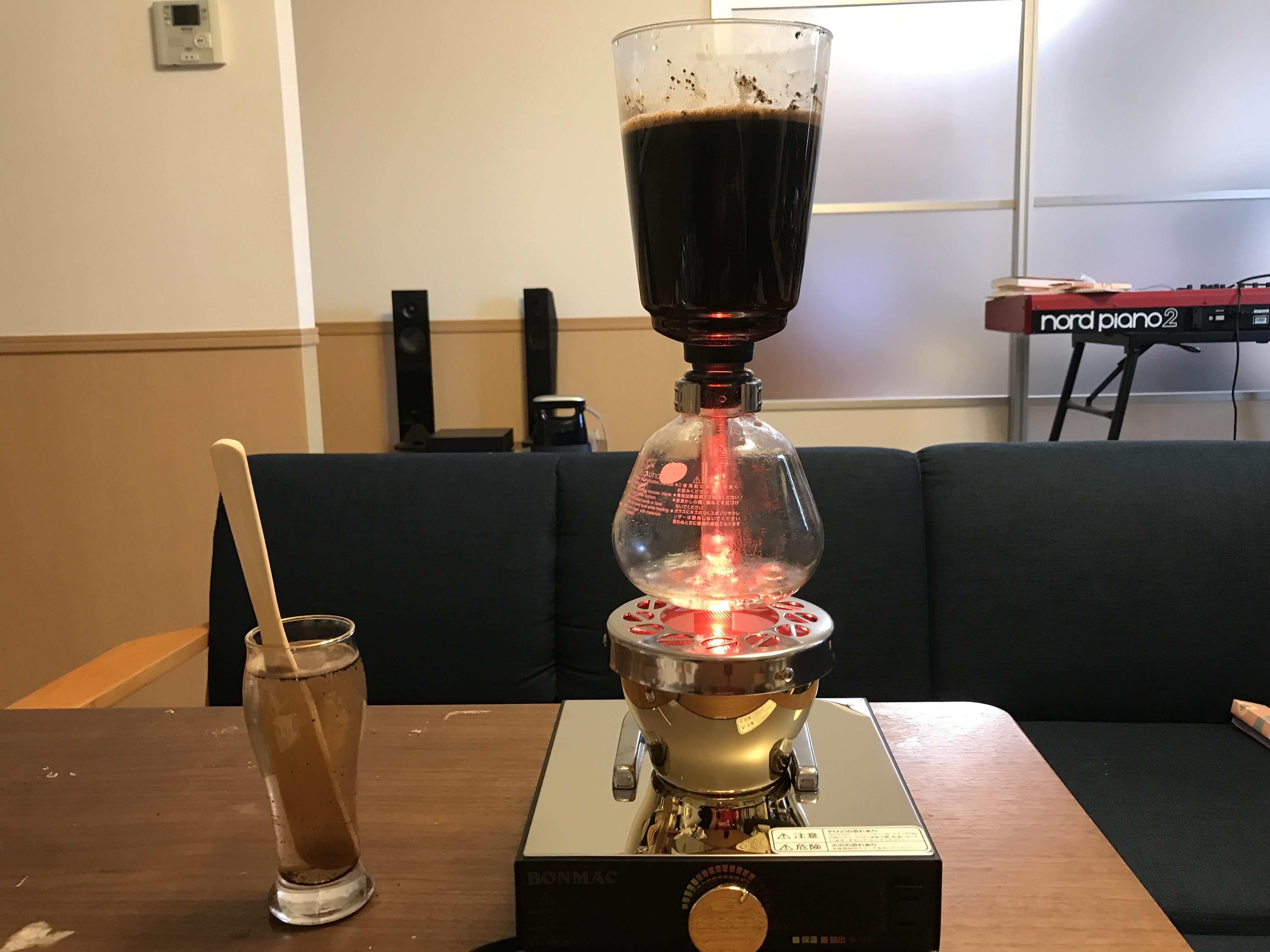 サイフォンコーヒー用ビームヒーター(ハロゲンランプ)BMBH-350Nを買ってみた!オール電化でサイフォンコーヒーが楽しめる!!!