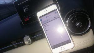iPhone(radikkerアプリ)をカーナビと接続した場合
