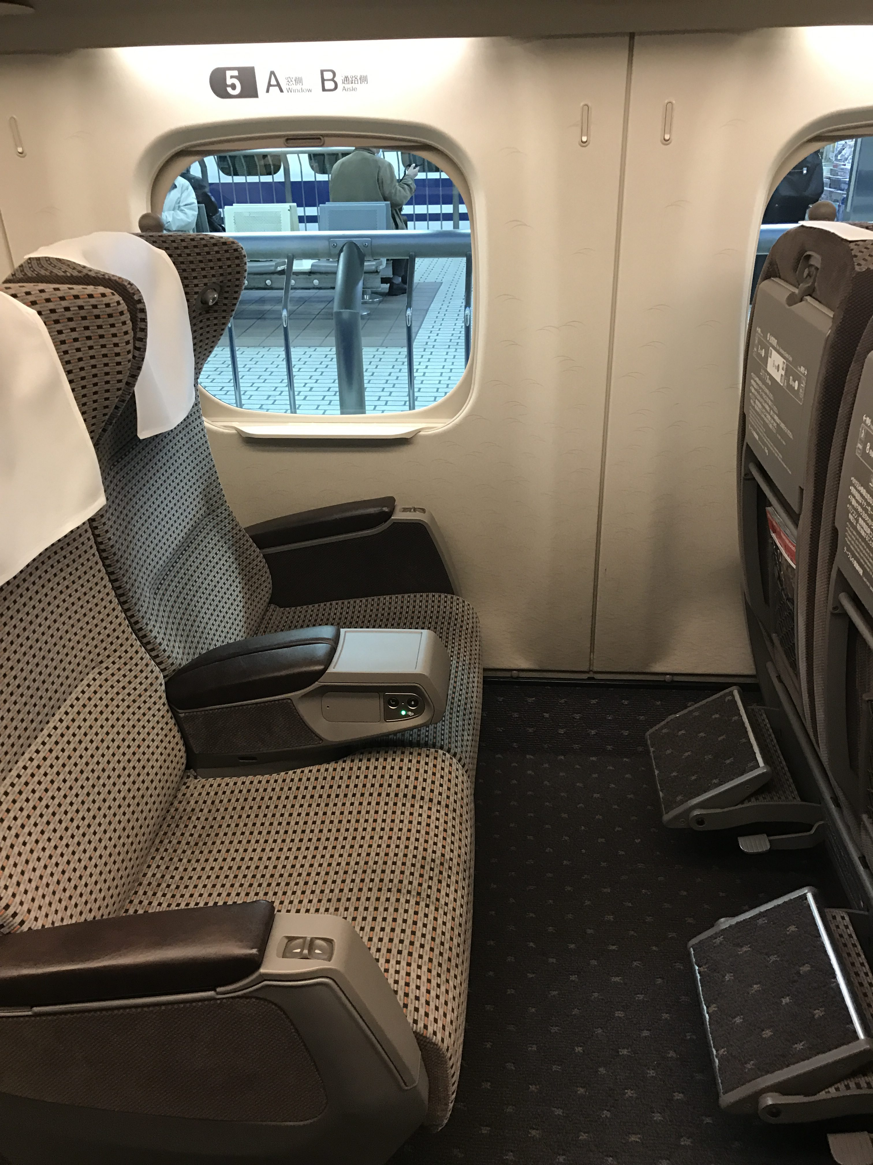 ANAのプレミアムクラスと、東海道新幹線のグリーン車を比較してみる