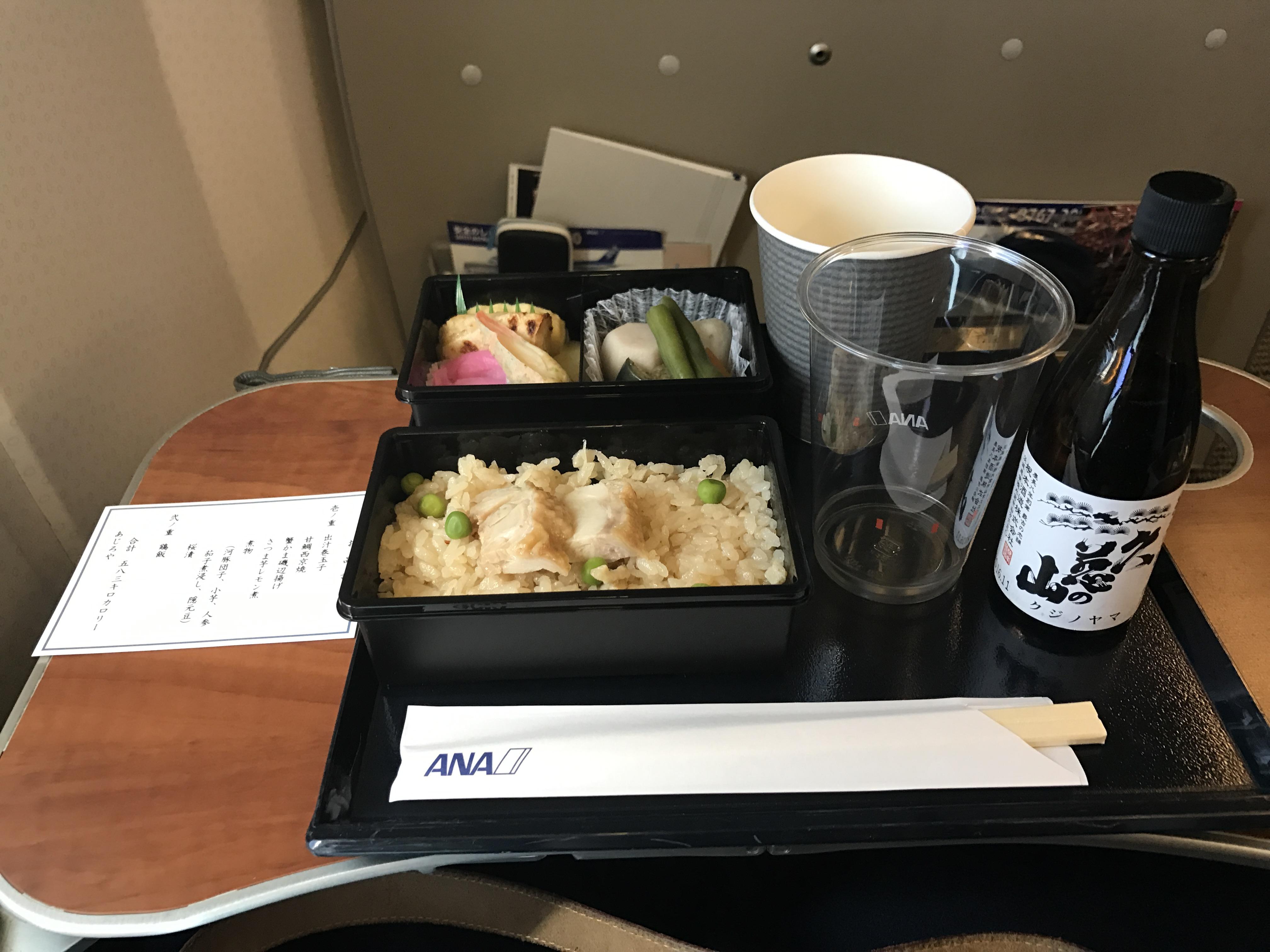ANA プレミアムクラスのPremium GOZEN(御膳、食事)を比較してみた(広島空港発着便編)