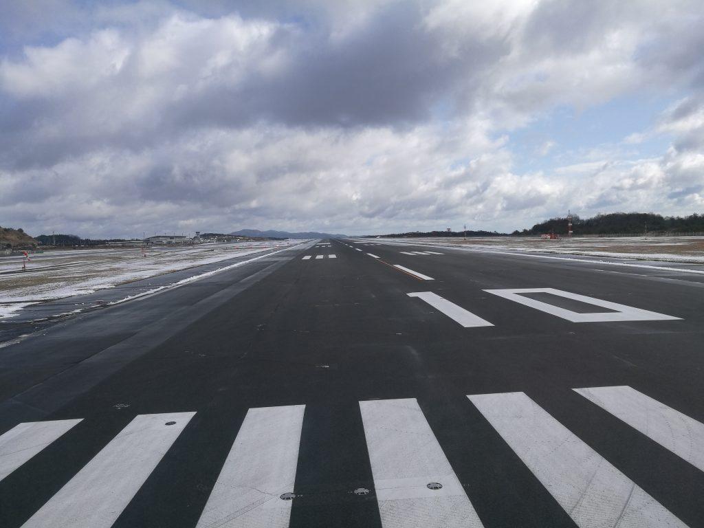 広島空港の滑走路