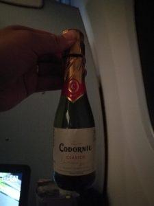 プレミアムエコノミー限定のスパークリングワイン